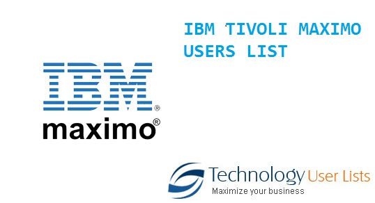 IBM TIVOLI MAXIMO USERS LIST